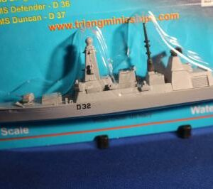 HMS Daring D 32 type 45 destroyer on card, Triang Minic